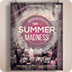 Summer Madness Flyer / Poster Print Template - GraphicRiver Item for Sale