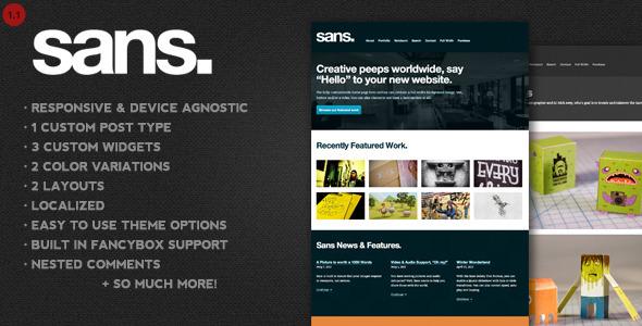 Sans – A Responsive Portfolio WordPress Theme - Portfolio Creative