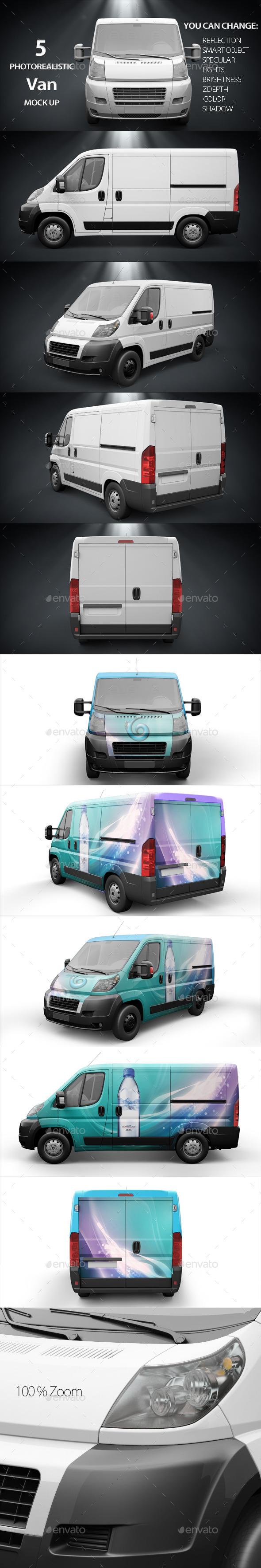 Van Mockup - Product Mock-Ups Graphics