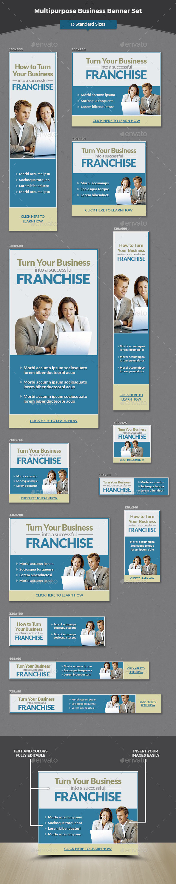 Multipurpose Business Banner Set - Banners & Ads Web Elements