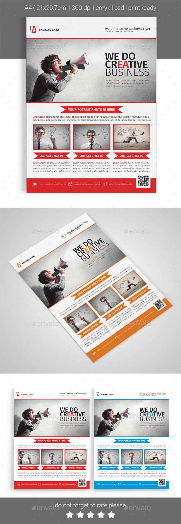 A4 Corporate Business Flyer Template Vol 03