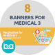 Flat Concept Banners for Medical 3 - GraphicRiver Item for Sale