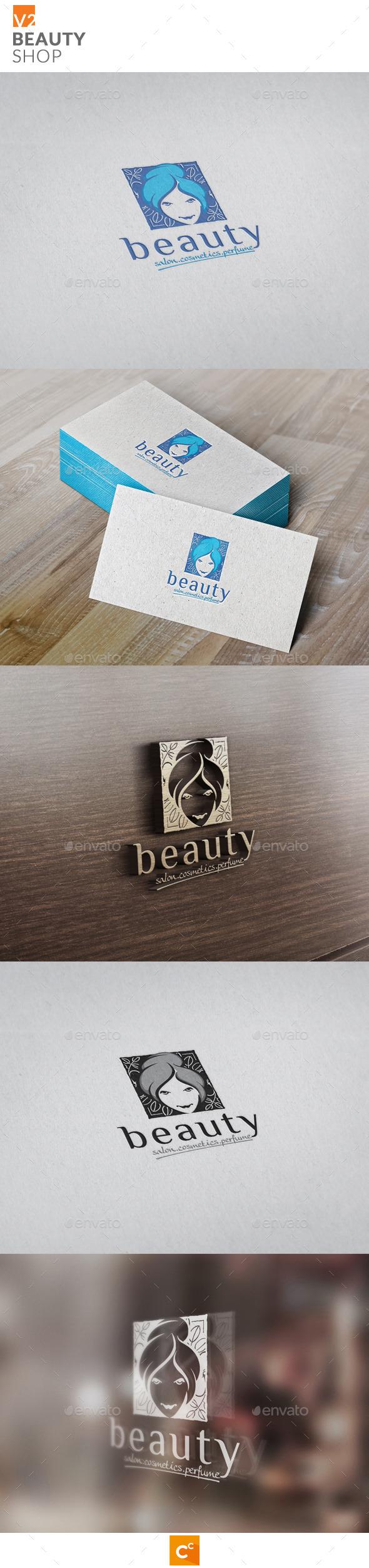 Beauty Shop v2 - Humans Logo Templates