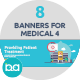 Flat Concept Banners for Medical 4 - GraphicRiver Item for Sale
