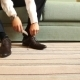 Man Puts On Shoes. Focus On The Laces - VideoHive Item for Sale