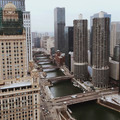 Looking down to Chicago River from a Hight Perspective  - PhotoDune Item for Sale