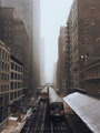 Chicago EL Train in Snow Storm - PhotoDune Item for Sale
