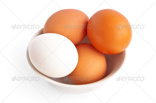 Eggs in a bowl - Stock Photo - Images