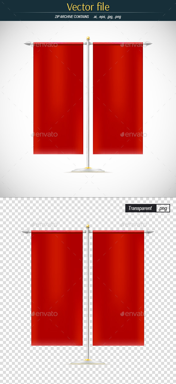 Vertical Flags - Man-made Objects Objects