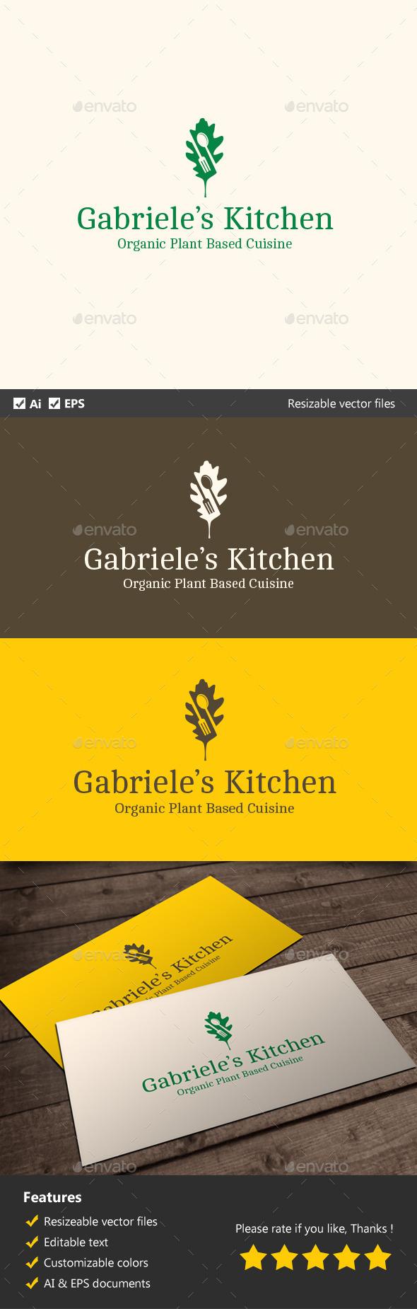 Vegetarian Kitchen - Food Logo Templates