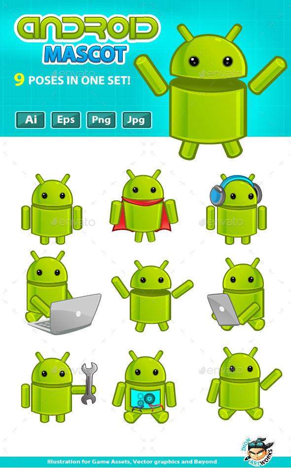 Android Mascot - Characters Vectors