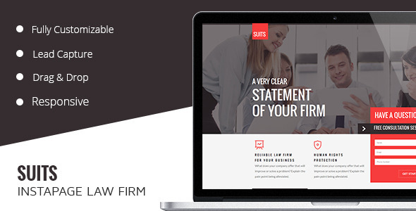 Suits - Instapage Law Theme - Instapage Marketing