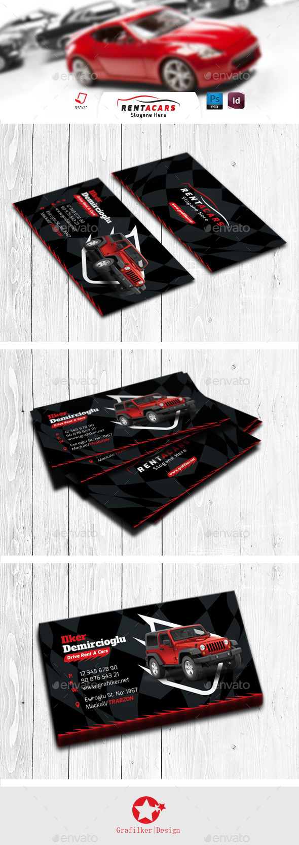 Rent A Car Business Card Templates - Creative Business Cards