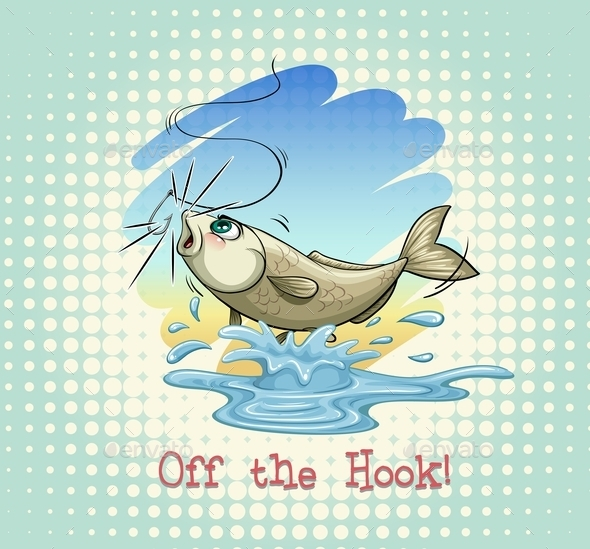 English Idiom Off the Hook - Animals Characters