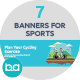 Flat Concept Banners for Sports - GraphicRiver Item for Sale
