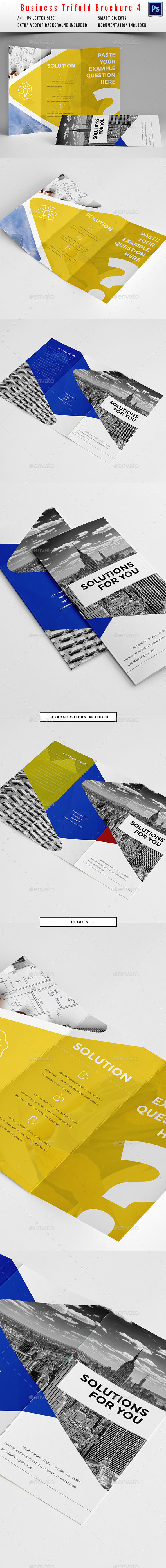 Clean Trifold Business Brochure 4 - Corporate Brochures
