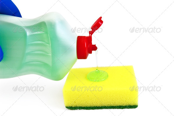 Gel Dishwashing sponge - Stock Photo - Images