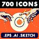 58 Premium Flat icons - GraphicRiver Item for Sale