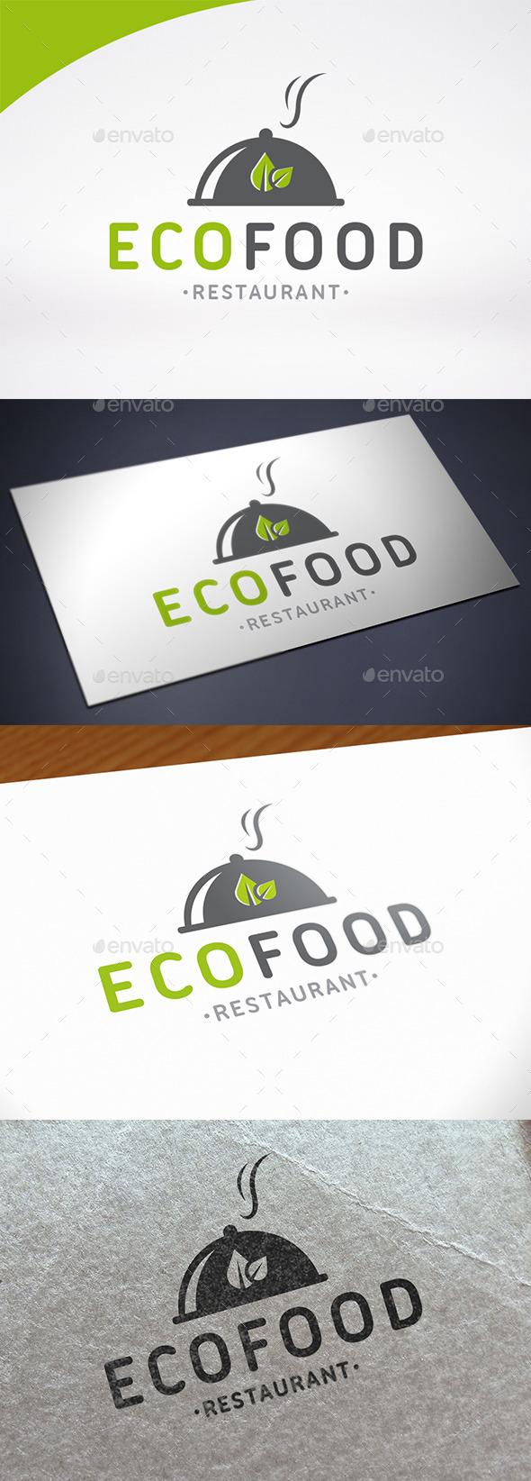 Eco Restaurant Logo Template - Restaurant Logo Templates
