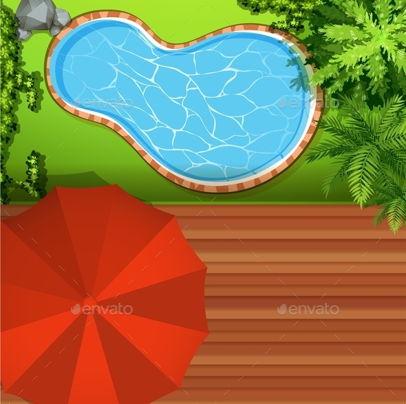 Hawkeye View of Swimming Pool - Landscapes Nature