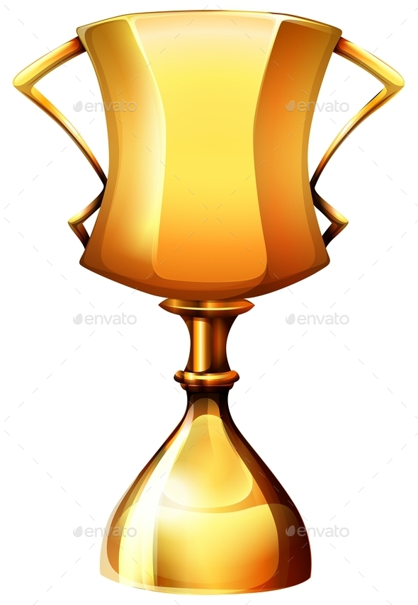 Golden Trophy on White - Miscellaneous Conceptual