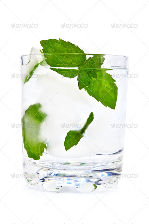 Ice water and mint - Stock Photo - Images