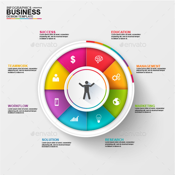 Abstract 3D Business Diagram Infographic - Infographics