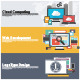 Flat Design Concepts for Cloud Computing - GraphicRiver Item for Sale