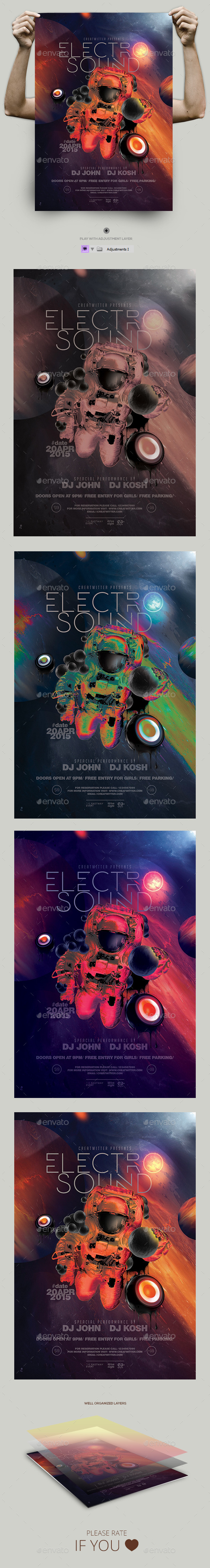 Electro Sounds Flyer/ Poster - Events Flyers