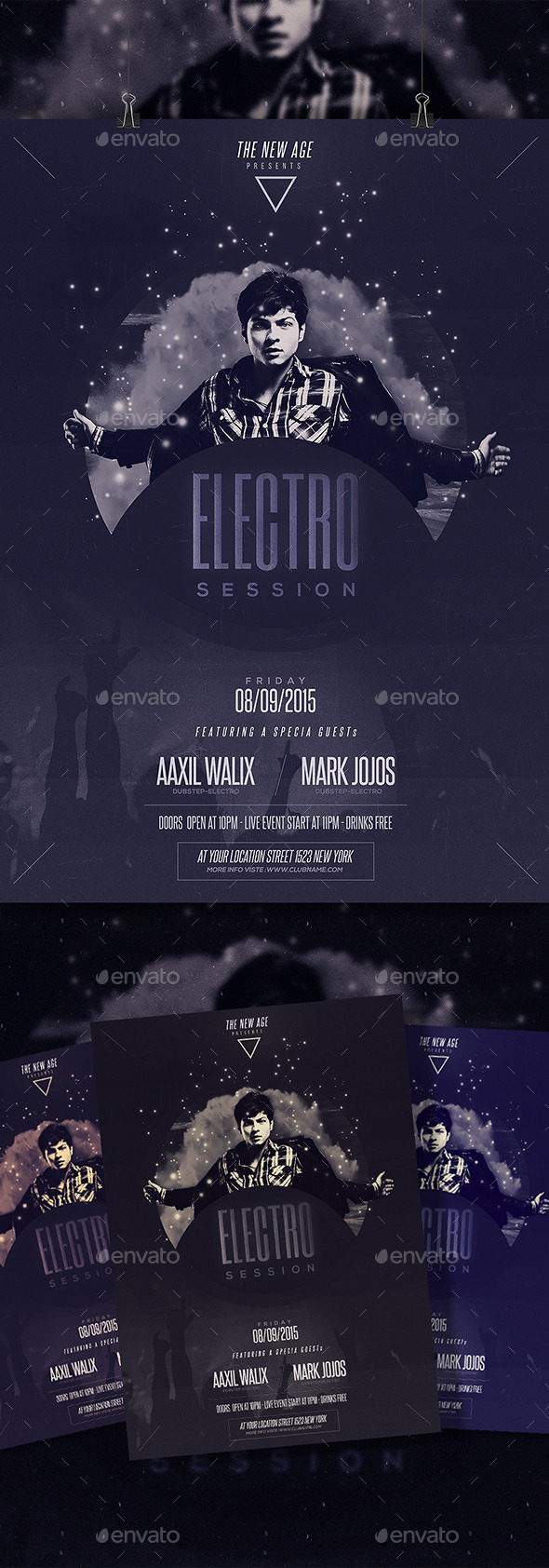 Minimal Flyer - Electro Session - Clubs & Parties Events