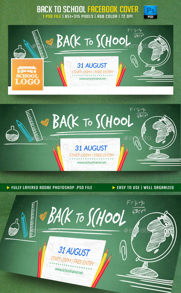 Back to School Facebook Cover - Facebook Timeline Covers Social Media