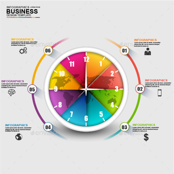 Abstract 3D Business Timeline Infographic - Infographics