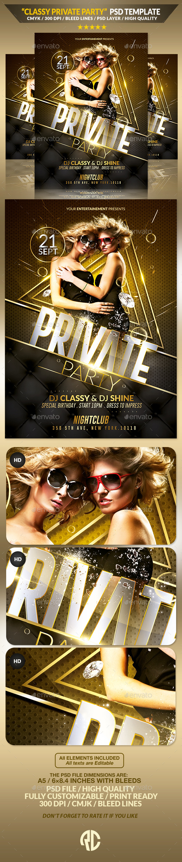 Luxury Private Party | Flyer Template - Events Flyers