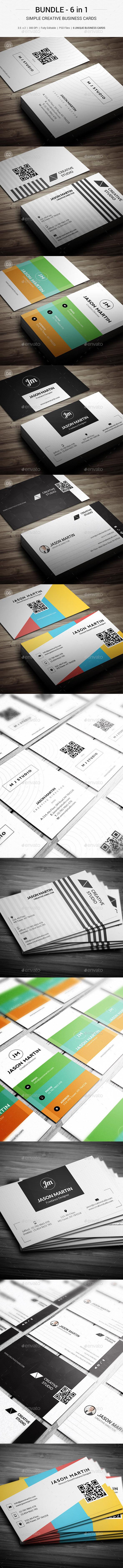 Bundle - Simple Creative Business Card - 143 - Creative Business Cards
