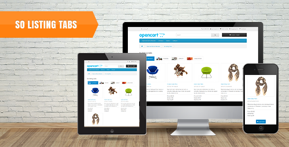 So Listing Tabs - Responsive OpenCart 3.0.x & OpenCart 2.x Module - CodeCanyon Item for Sale