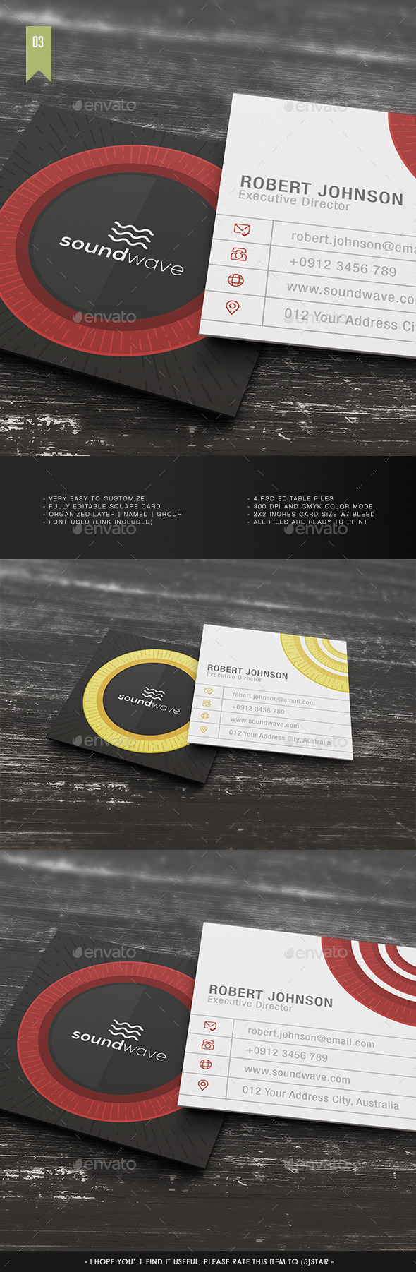 Square Business Card V.003 - Corporate Business Cards