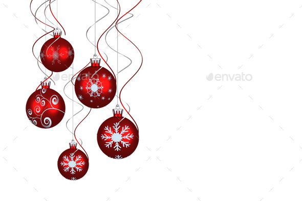 Digital hanging christmas bauble decoration on white background - Stock Photo - Images