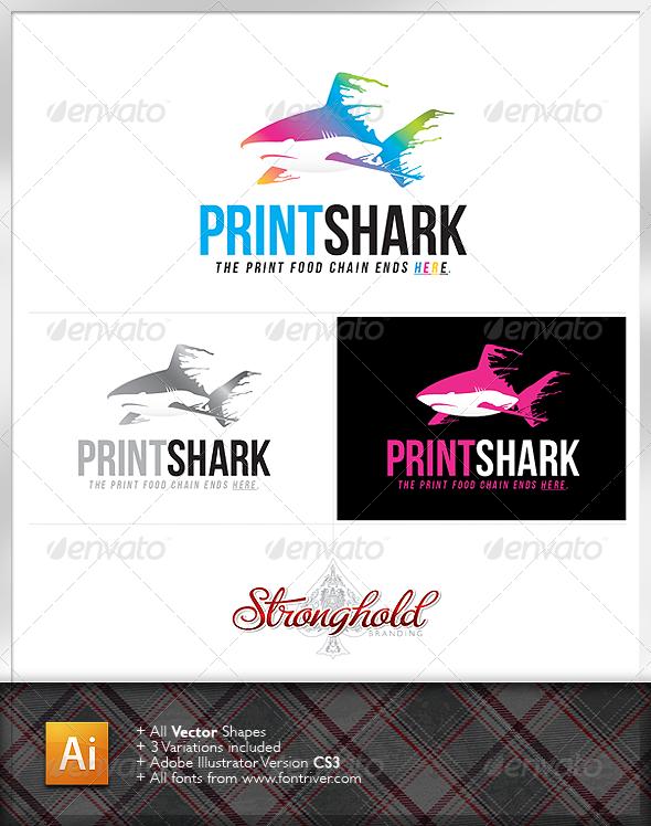 Print Shark Logo - Animals Logo Templates