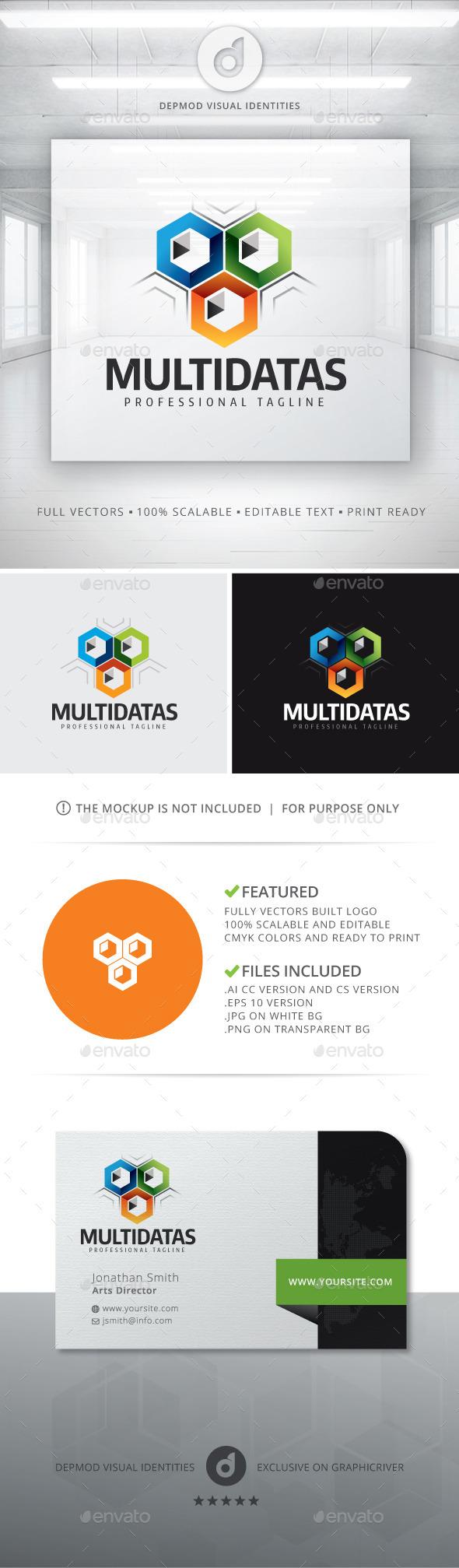 MultiDatas Logo - Abstract Logo Templates