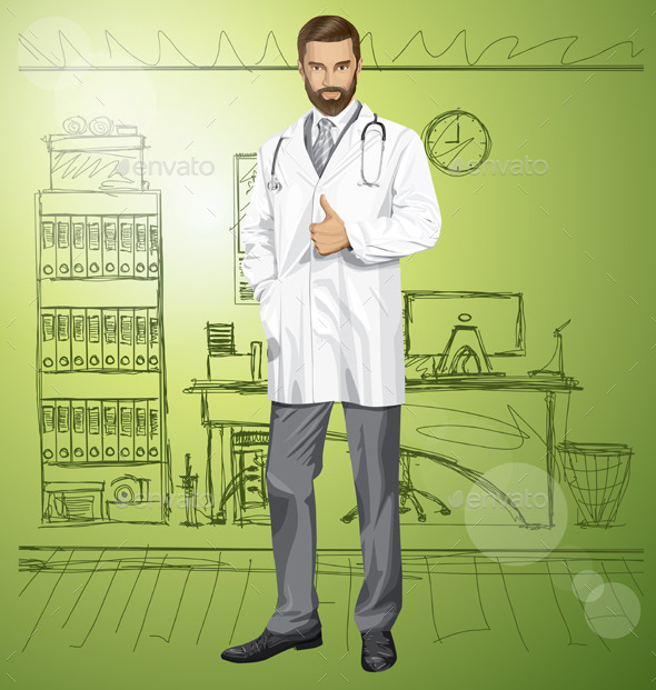 Doctor with Stethoscope - Health/Medicine Conceptual