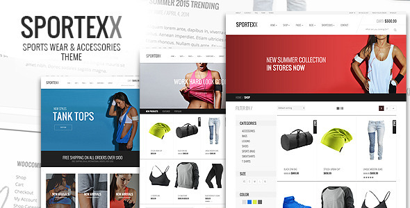 Sportexx – Sports & Gym Fashion WooCommerce Theme