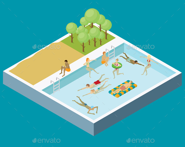 Water Pool Fun Concept - Sports/Activity Conceptual