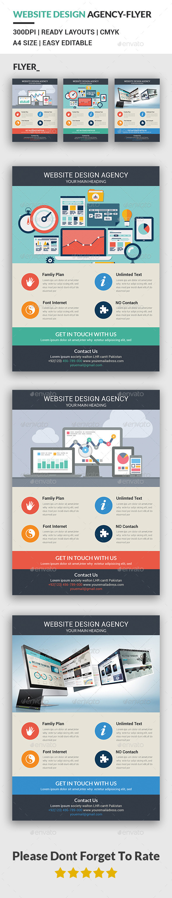 Website Design Agency Flyer Template - Corporate Flyers
