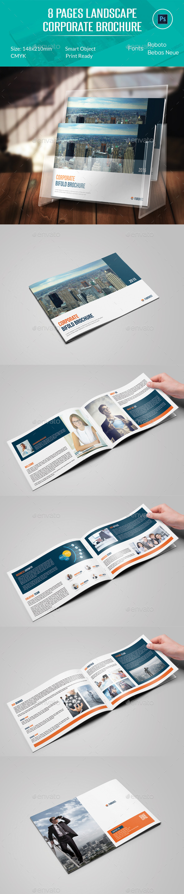 8 Pages Landscape Corporate Brochure - Corporate Brochures