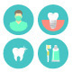 Dental Clinic Services Flat Icons - GraphicRiver Item for Sale