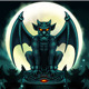 Halloween Gargoyle Illustration Digital Painting - GraphicRiver Item for Sale