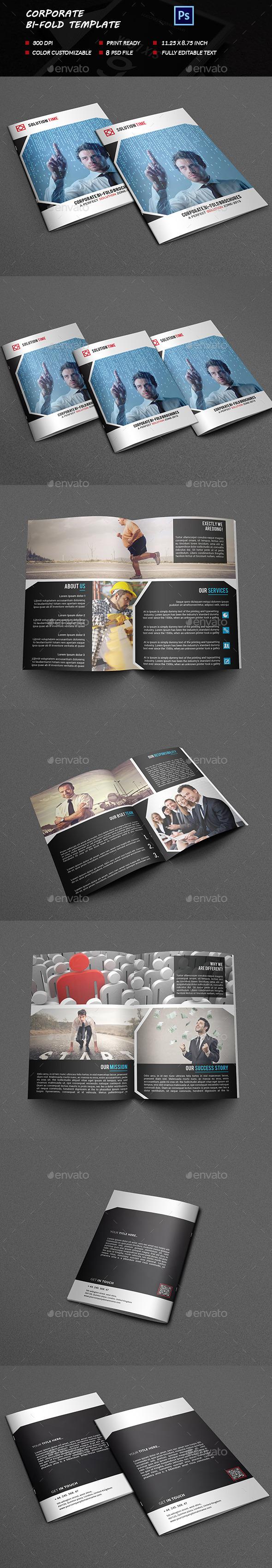 Corporate Bi-fold Brochure Template - Brochures Print Templates