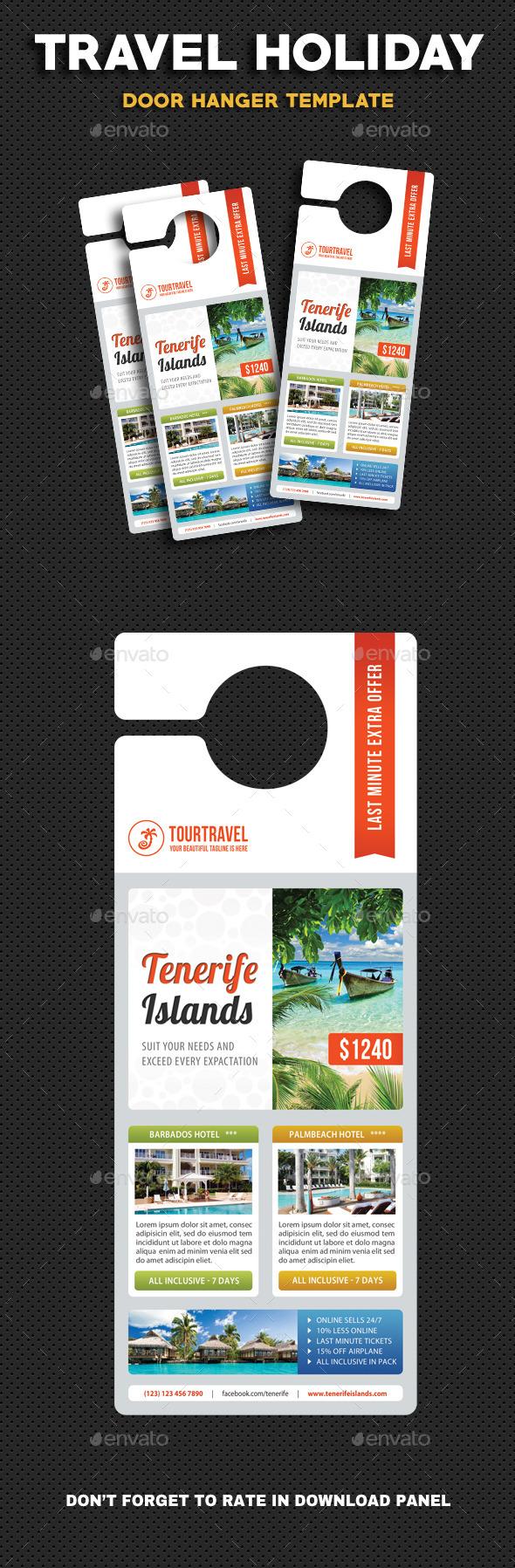 Travel Holiday Door Hanger V3 - Miscellaneous Print Templates