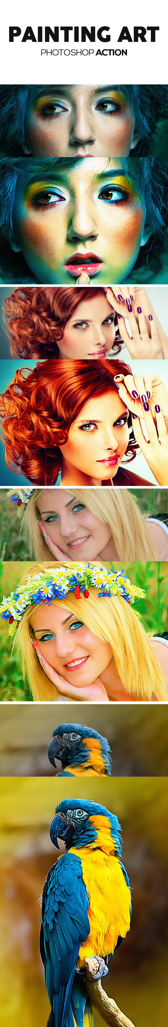 Painting Art Photoshop Action - Photo Effects Actions