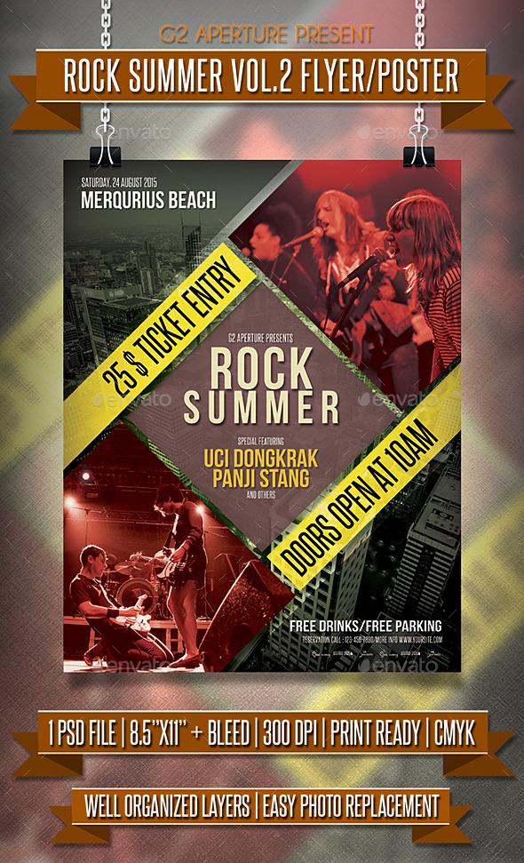 Rock Summer Flyer / Poster Vol.2 - Events Flyers